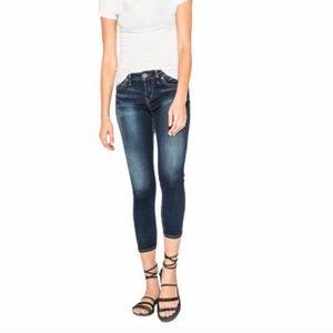 Silver Suki cropped skinny denim jeans size 26